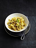 Farfalle, pesto and pine nut salad