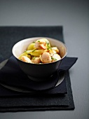 Potato and petoncle scallop salad with tarragon