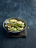 Zucchinis with anchovy and olive vinaigrette
