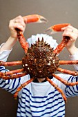 Person playing a sea spider