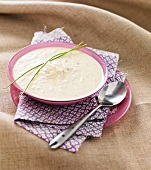 Potage aux meuniers (Champignon-Hühner-Cremesuppe, Frankreich)