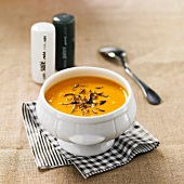 Creamed pumpkin soup with truffles