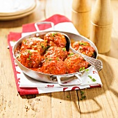 Wild boar meatballs in tomato sauce