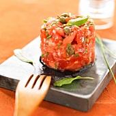 Tomato and caper tartare
