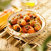 Snails in tomato sauce