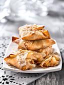 Crispy pear turnovers