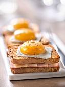 Croque-madame made with cracottes