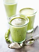 Creamed pea and Philadelphia chilled soup