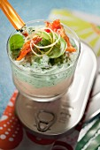 Salmon cream and spinch cream Verrine