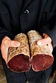 Getrocknetes Rindfleisch aus Aubrac