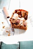 Pecan and brown sugar brownie