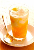 Iced melon and coconut sorbet smoothie