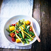 Summer vegetable wok