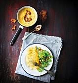 Omelett und Rührei