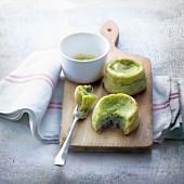 Zucchini and eggplant caviar savoury fondants