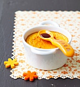 Pumpkin flan with caramel