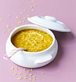 Alphabet pasta soup