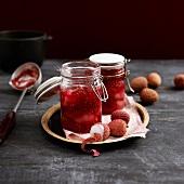 Lychee-raspberry jam