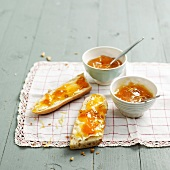 Mirabelle plum and lemon jam