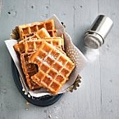 Wholemeal flour waffles