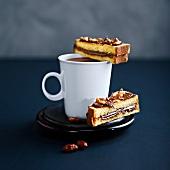 Brioche, almond and Nutella toasted sandwiches