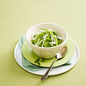 Green bean puree with onions