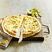 Pear and Fourme d'Ambert quiche