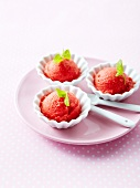 Strawberry-basil sorbet