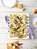 Skate with capers and fennel