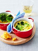Cheddar and broccoli omelette casserole