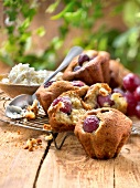 Brousse and grape muffins