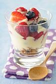 Tiramisu-style summer fruit dessert