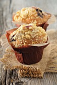 Crumble-style summer fruit muffins