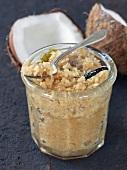 Vanilla-flavored coconut jam
