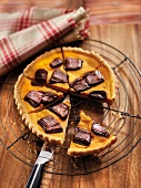 Pumpkin and chocolate pie