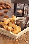 Almond croissant cookies