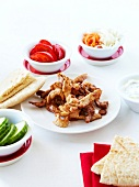 Sauteed thinly sliced spicy pork