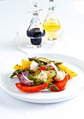 Mixed vegetables marinated with garlic and thyme