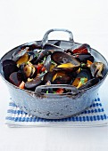 Mussel, tomato and herb casserole