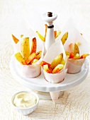Root vegetable french fries