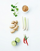 Composition with Asian vegetables