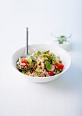 Quinoa, red onion, cherry tomato and sage salad