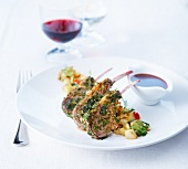 Lamb chops with herbs and turnips