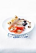 Greek dish with grilled feta