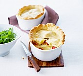Small potato and diced bacon pies