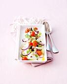 Italian style-mozzarella di buffala salad