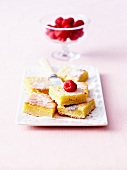 Square lemon fondants