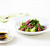 Beef tataki with crisp green salad,soya sauce