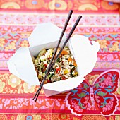Asian-style sauteed rice lunch box