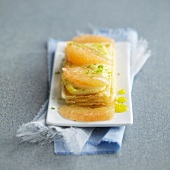 Grapefruit and lemon curd mille-feuille
